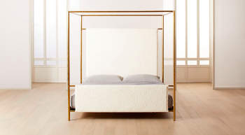 Odessa Shearling Canopy Bed
